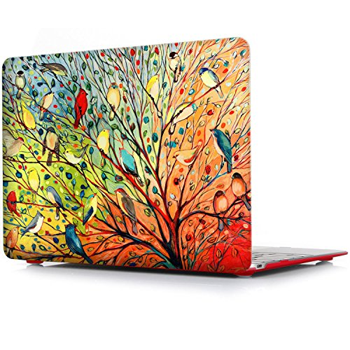 - iCasso Macbook Air 13 Inch Case Rubber Coated Glossy Hard Shell Plastic Protective Cover For Apple Laptop Macbook Air 13 Inch Model A1369/A1466 - Birds