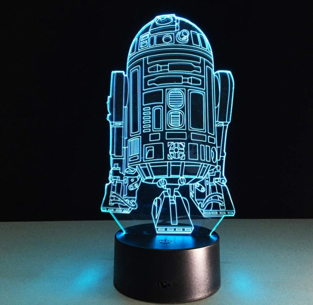 Cool Star Wars R2D2 Robot Novedad 3D Night Light LED Lámpara de ...