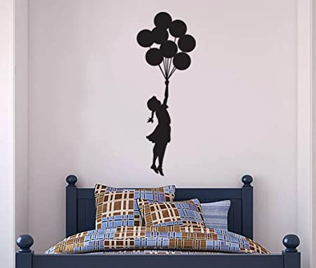 Banksy Wall Decal   Hanging Balloon Girl Wall Decal, Banksy Decal   Banksy  Vinyl Wall