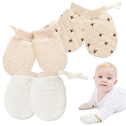 Baby Boy Newborn Mittens 3m  Gender Neutral  Cream Blue Slate  3 Piece Set