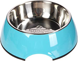 Manda Ocean Pet Bowls Stainless Steel Dog Cat Pet Bowl Universal Pet Water and Food Bowls 4 Sizes and 5 Colors Available