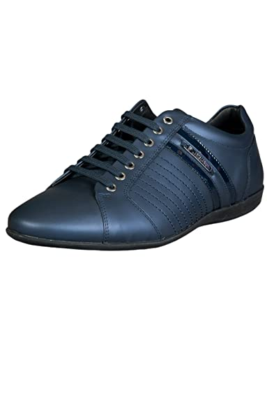 Versace , Baskets Mode pour Homme Bleu Bleu 41 EU - Bleu - Bleu, 41.5 78a2e12fc1d
