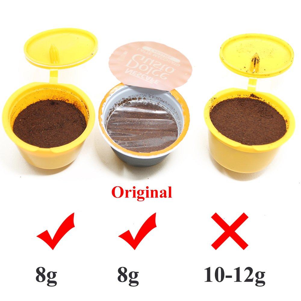 RECAPS cápsulas recargables de café reutilizables conciliable con Nescafe Dolce Gusto Brewers paquete de 3 (Yellow Green White): Amazon.es: Hogar