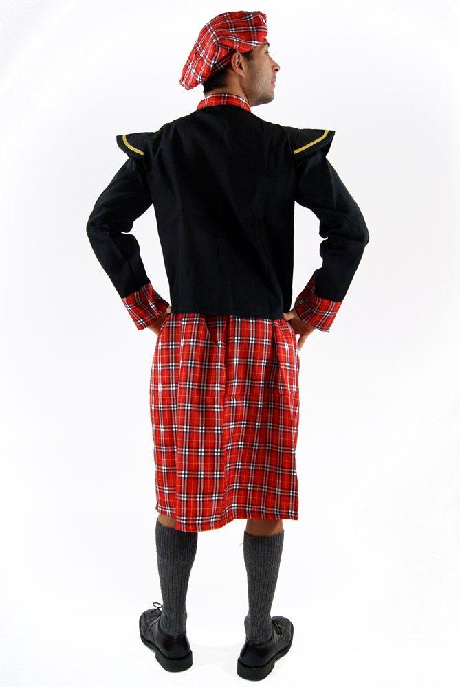 Highlander Uomo Braveheart Kilt Taglia: M Costume scozzese DRESS ME UP