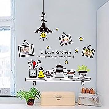 Wall Sticker Kitchen Cupboard Restaurant Decoration Wallpaper