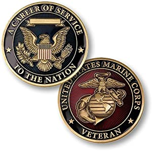 Career of Service Marines Veteran Challenge Coin