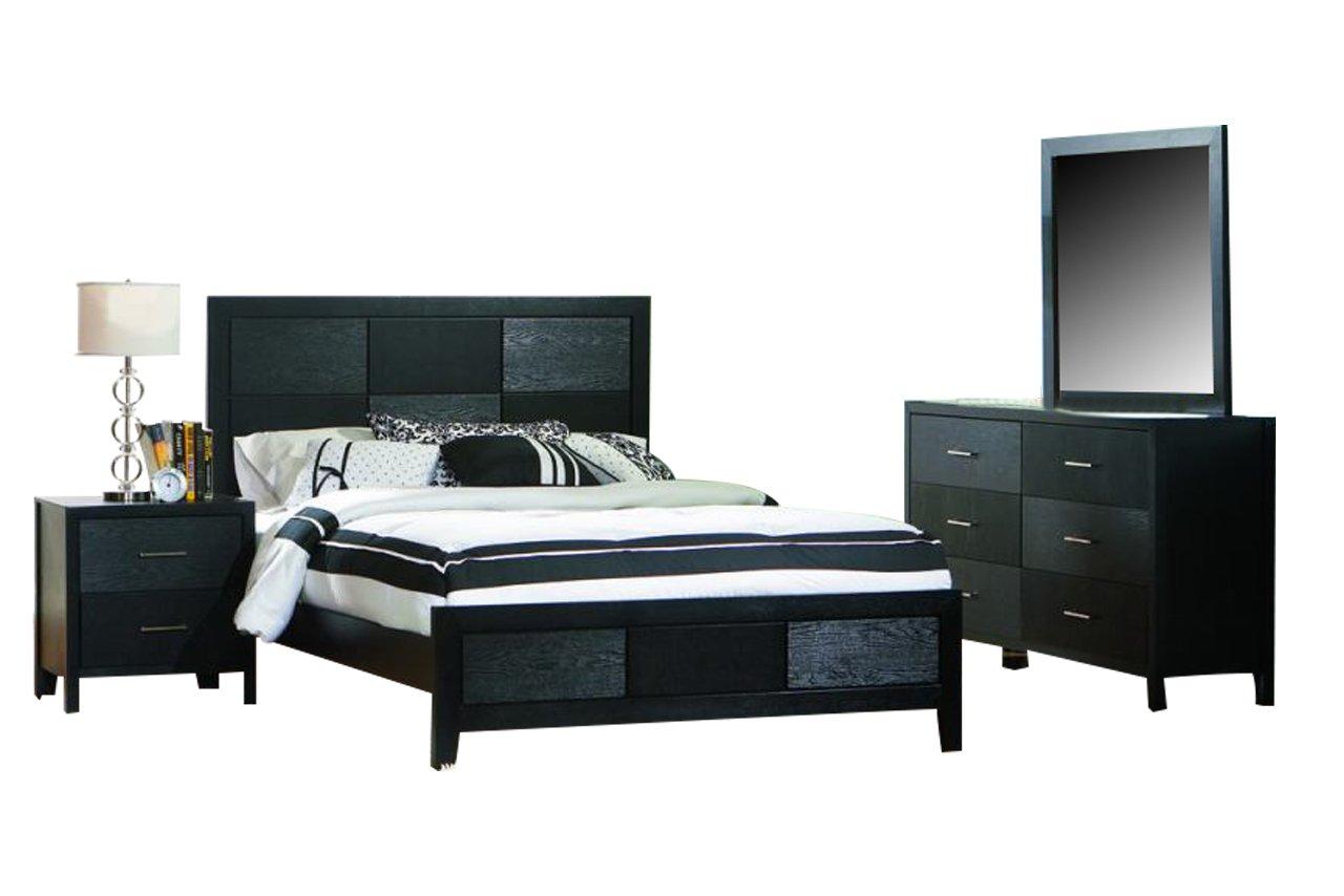 Coaster Grove Bedroom Set with Queen Bed - Nightstand - Dresser and Mirror