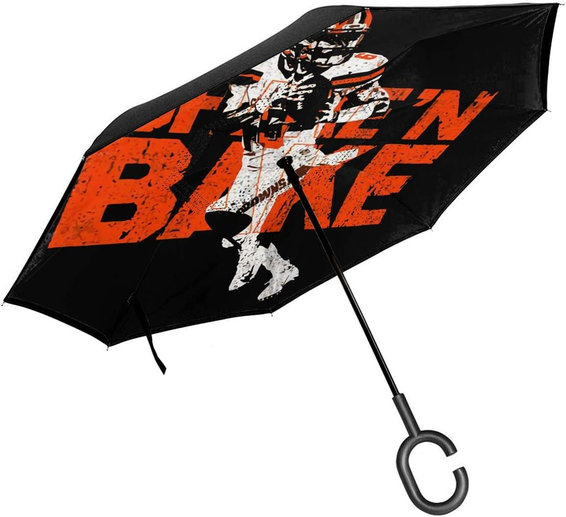 Baker Mayfield Flag Cartoon Logo Car Reverse Umbrella