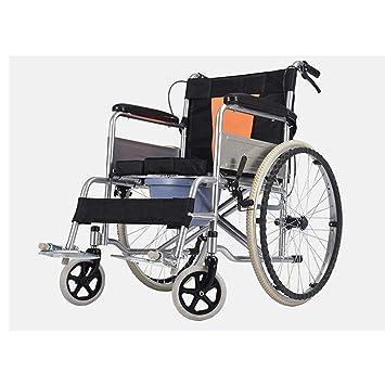 Shisky Silla de Ruedas Plegable Ligera portátil Ultraligera multifunción para Personas Mayores con discapacidad: Amazon.es: Hogar