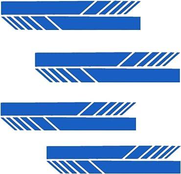 Fully 4 Paare 8stücke Reflektiert Seitenspiegel Rückspiegel Aufkleber Sticker Folien Tattoo Für Auto Motorrad Wasserdicht Blau 20x2cm 7 87x0 78 Auto