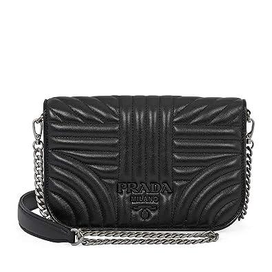 58975453725b Prada Nappa Leather Shoulder Bag- Black  Handbags  Amazon.com