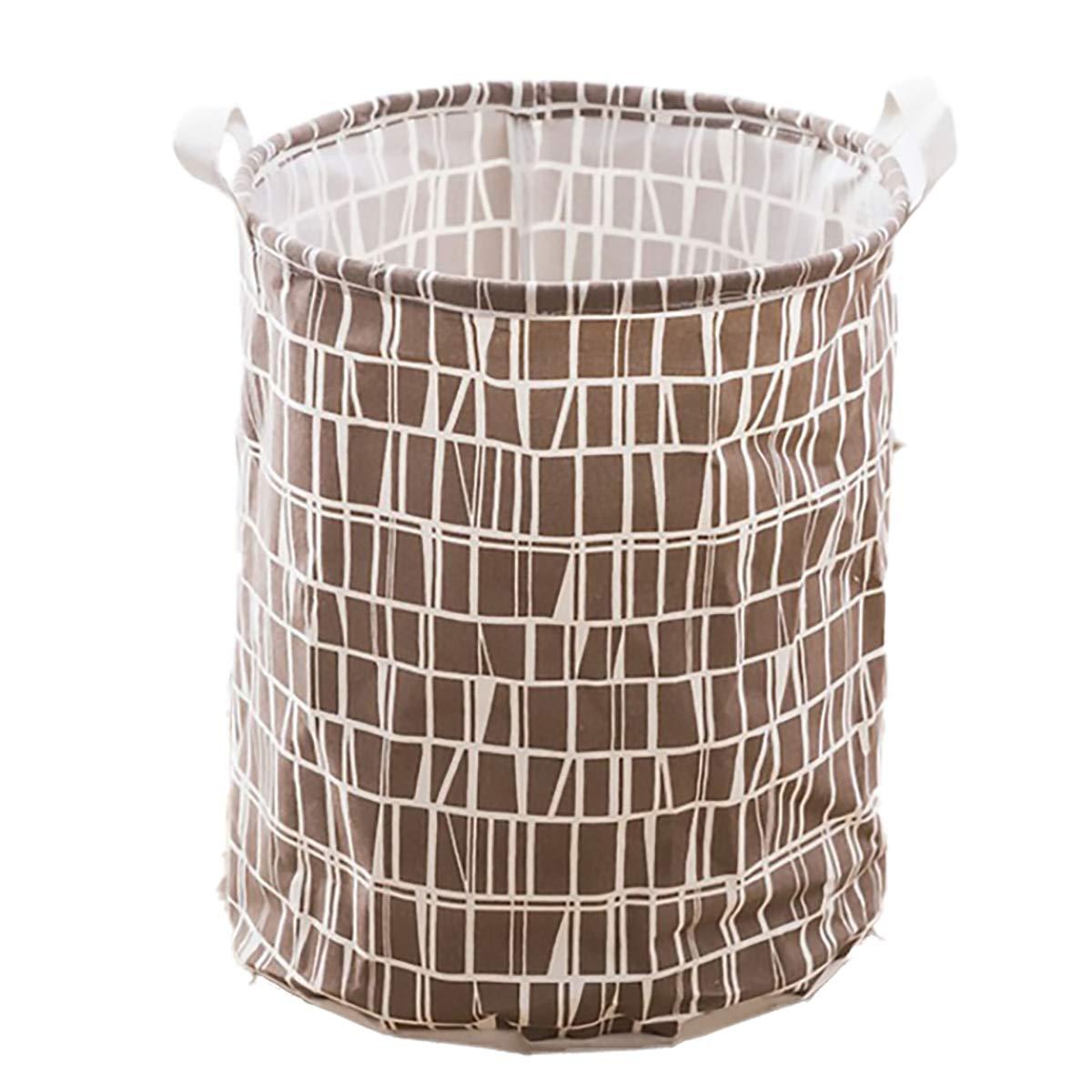 Bingo Cestas Plegables para la Colada Grandes Resistente al Agua y Redondo Interior con cord/ón para la Ropa Disponible 38 cm y 43 cm de Altura Soporte para Ropa Sucia Plegable ecol/ógico
