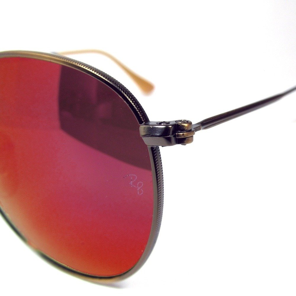 Amazon.com: Ray-Ban Redondo Rojo Espejo anteojos de sol RB ...