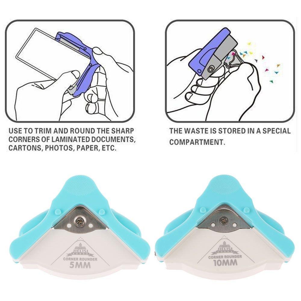 MMRM R5 Coin Rounder Papier Perforateur Carte Photo Scrapbooking DIY Outil de Coupe Bleu