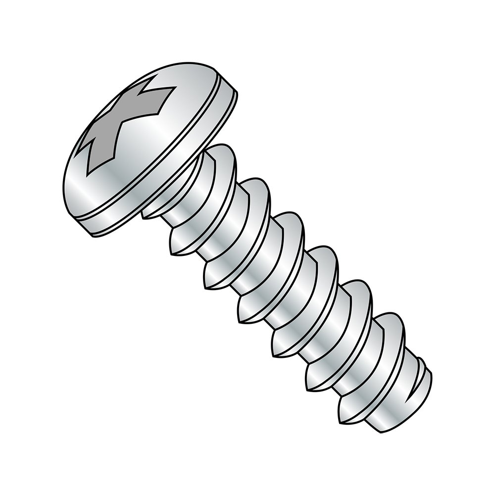 #3-28 Thread Size Steel Sheet Metal Screw Pack of 10000 Phillips Drive Pack of 10000 Zinc Plated Pan Head Type B Small Parts 0304BPP 1//4 Length 1//4 Length