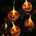 Halloween Pumpkin String Lights Battery Operated Warm White LEDs, 7.22FT for Indoor, Holiday, Festival, Party Decoration
