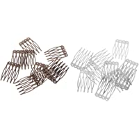Baoblaze 20 Pieces Blank Alloy Hair Comb Findings DIY Hair Accessory Making 26x40mm Craft
