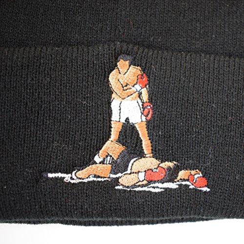 de de real sombrero Muhammad Ali eco enrollado Sombrero hecho lana negro Mu AXq5zxw