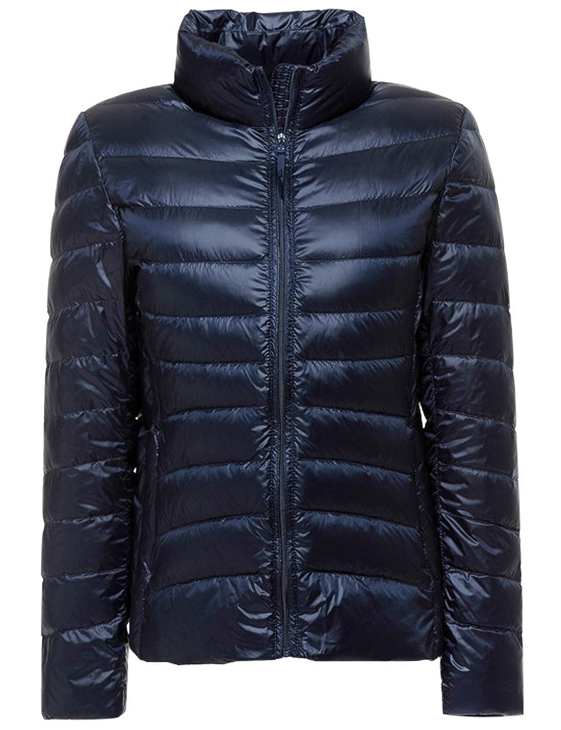 Jenkoon Women's Casual Lightweight Slim Short Puffer Down Jacket Puffer Down Coats