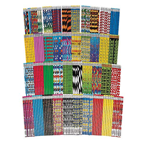 Fun Express - Mega Pencil Assortment (250pc) - Stationery - Pencils - Pencils - Printed Assortments - 250 Pieces -