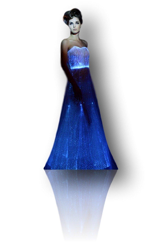 TrYptiX Women's Fiber Optic Light up Wedding Dress (XX-Large, White) by TrYptiX