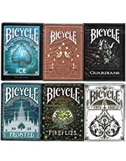Bicycle Playing Cards 6 Deck Collector's Bundle - Fireflies, Ice, Aviary Orange, Guardian, Archangels and Bicycle Frosted