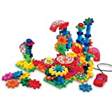 Learning Resources LER9209 Gears! Gears! Gears! Lights & Action Motorized Building Set (121 Piece)