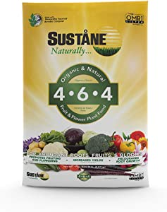 Sustane 46420lb Fertilizer, 20 lb, Brown