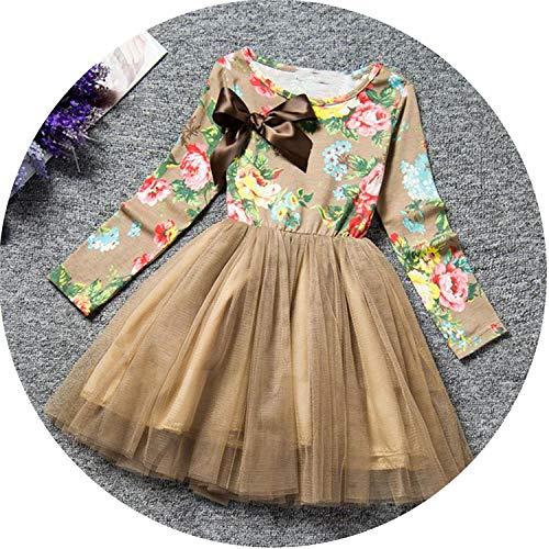 (Petals Designs Girl Dress Children Party Costume Kids Formal Events Vestidos Infant Flower Dress Fluffy Wedding Gown 3 5 7T,as)