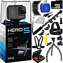 GoPro HERO5 Black 32GB Bundle 18PC Accessory Kit - Includes 32GB microSD Card + High Speed Memory Card Reader + Heavy Duty Monopod Selfie Stick + Micro HDMI Cable + Flexible Gripster Tripod + Head Mount + Chest Strap + MORE