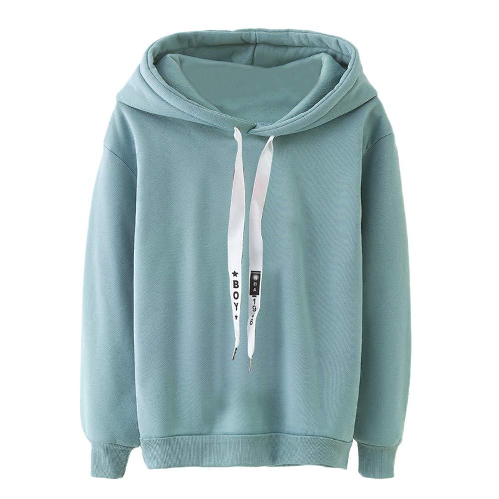 Hoodies Sweatshirt Damen Groß Größe Jumper Btruely Hooded Pullover Winter Kapuzenpullover Herbst Langarmshirt Retro Sweater Mode Mantel