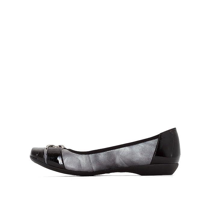 Anne Weyburn Frau Ballerinas mit Keilabsatz, Zweifarbiges Leder Gre 37 Grau:  Amazon.de: Schuhe & Handtaschen