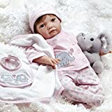 Paradise Galleries Realistic Newborn Great to Reborn Baby Doll, Precious Peanut, Girl Doll Crafted in Soft Vinyl and Weighted Body, 21 inch