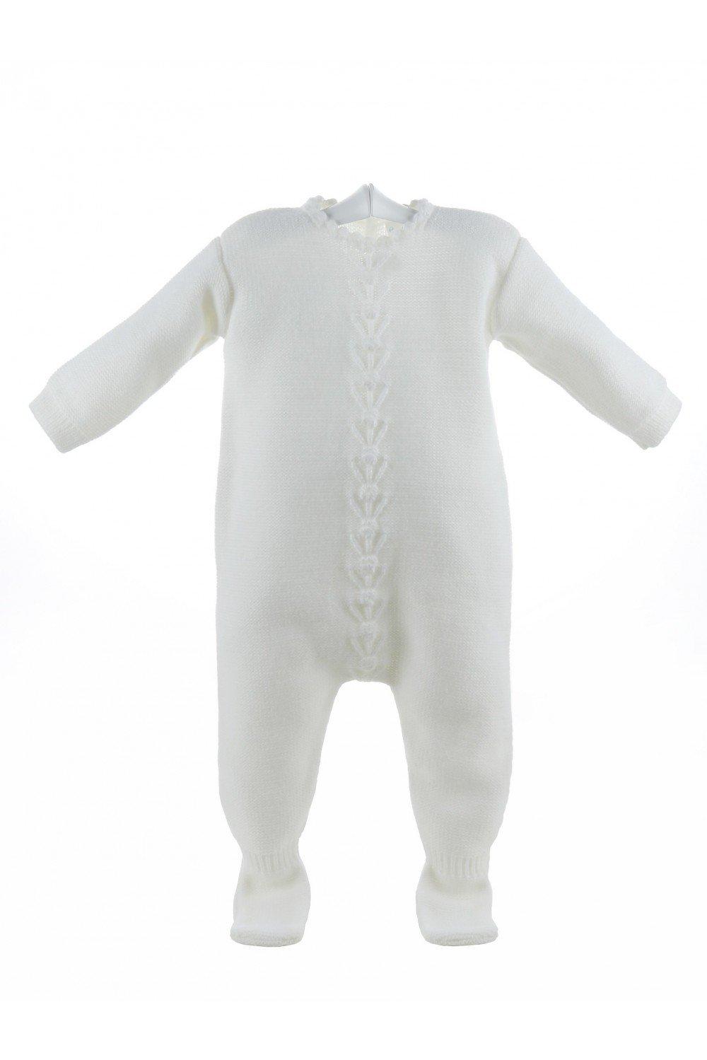 Isabel Maria - Pelele de lana para bebés marfil con punto de garbanzo - 3 meses, Marfil: Amazon.es: Bebé