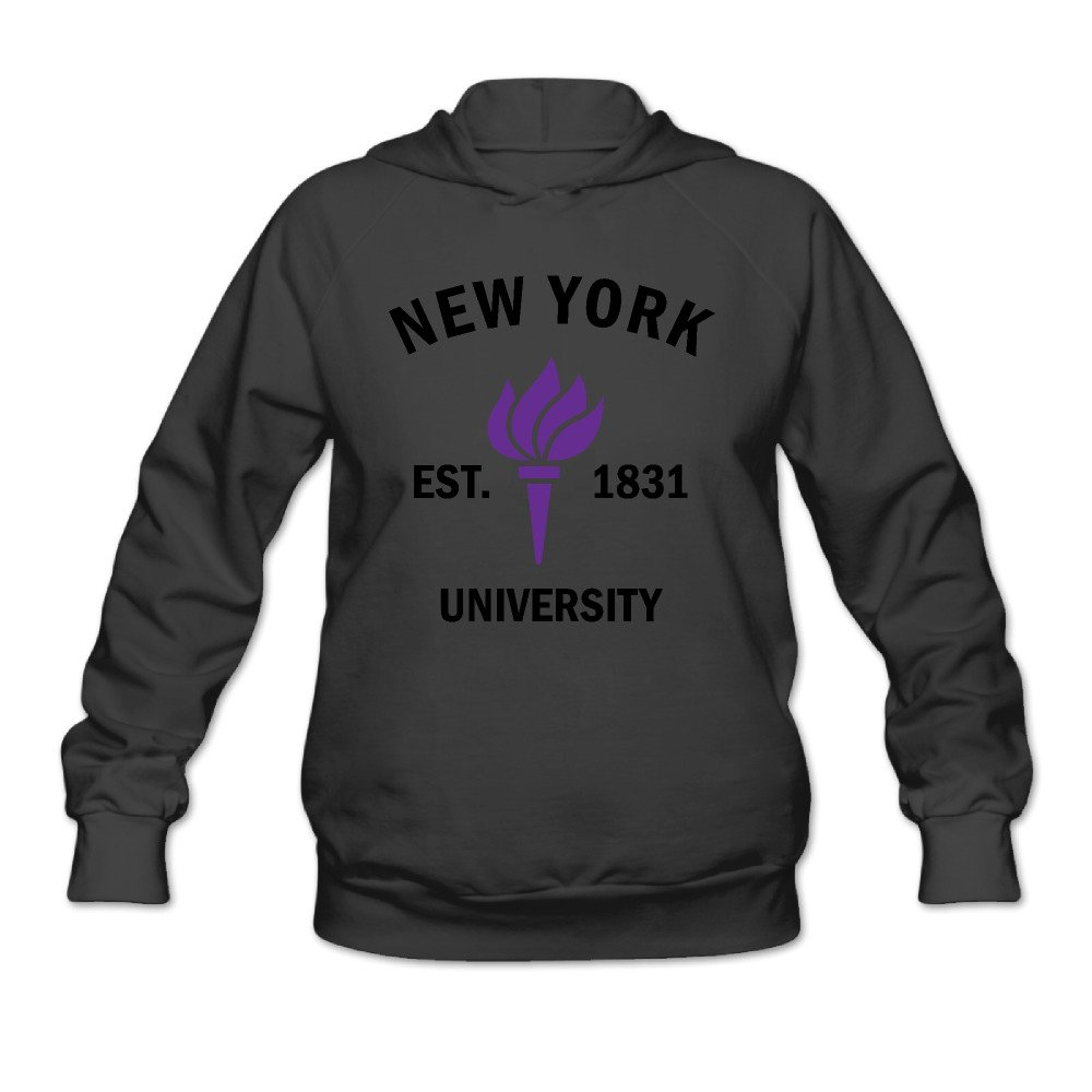 FQZX Womens New York University Established 1831 Long Sleeve Hooded Sweatshirt White