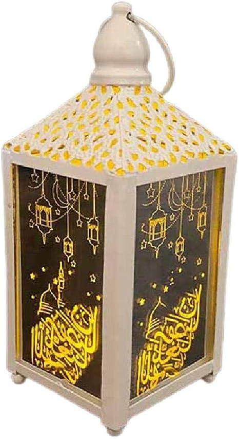 Eid Mubarak Ramadan LED Night Light Lantern Lamp Muslim Islam Hanging Decoration