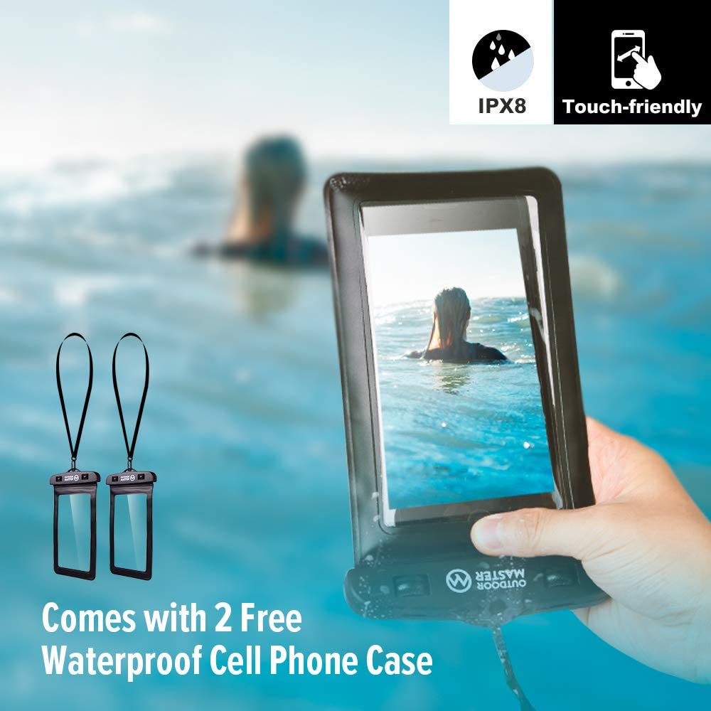 Comes with 2 Free Waterproof Cell Phone Case with Floating Strap Fishing Rafting OutdoorMaster Dry Bag Swimming Kayaking Waterproof Boating Lightweight Dry Sack for The Beach