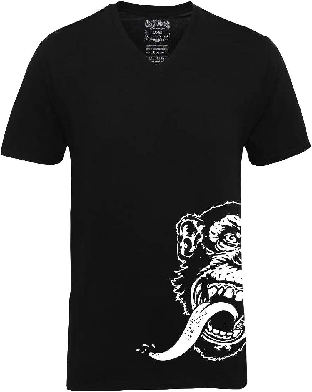 Camiseta oficial Kyd de Gas Monkey Garage GMG Hot Rod V cuello lateral Logo