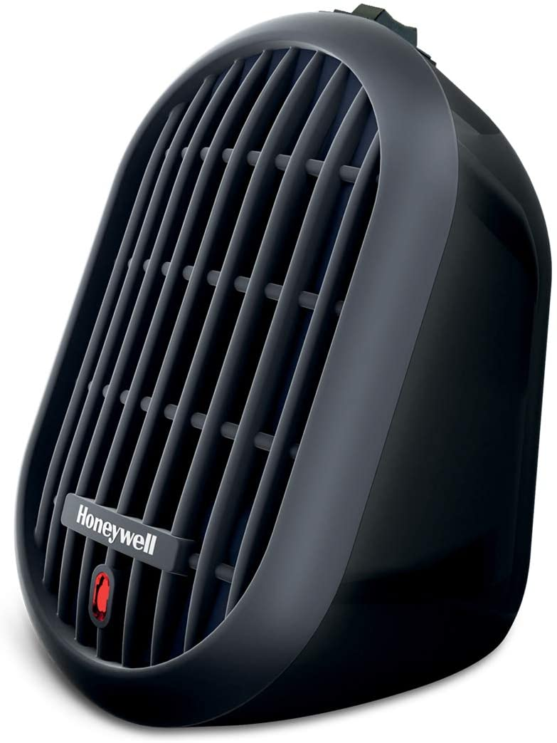 Amazon Com Honeywell Hce100b Heat Bud Ceramic Heater Black Energy Efficient Space Saving Portable Personal Heater With 2 Heat Settings For Home School Office Home Kitchen