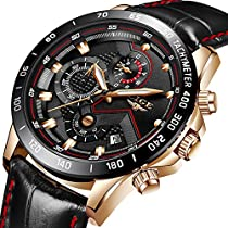 Mens Watches Fashion Waterproof Stainless Steel Analog Quartz Watch Men Luxury Brand LIGE Black Classic Casual Date Mesh Wrist Watch …