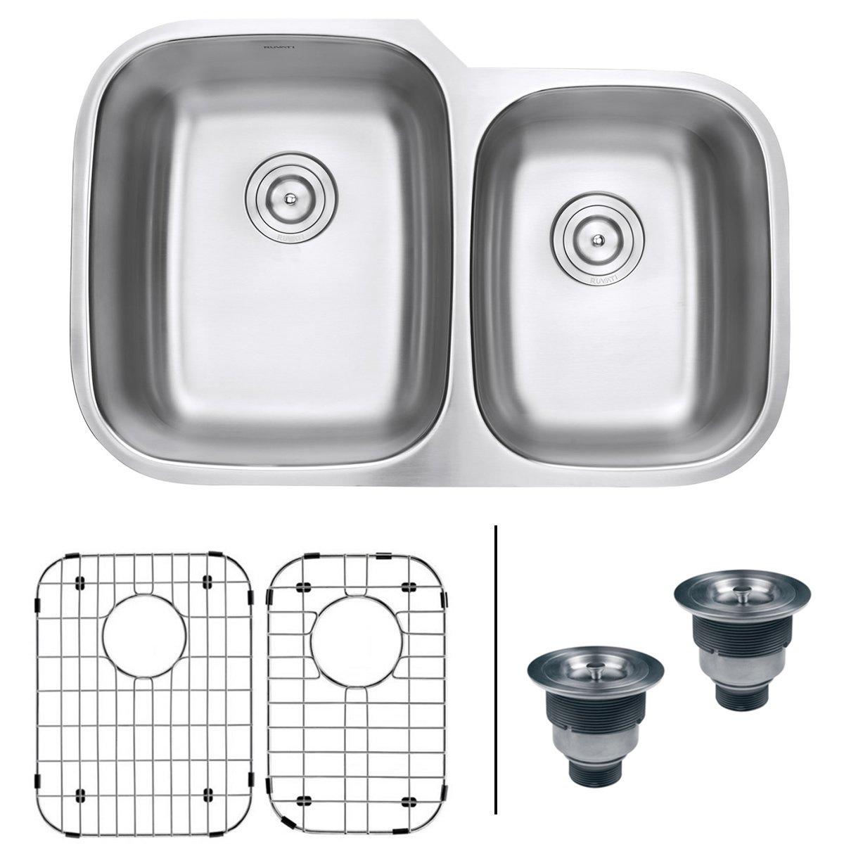 Ruvati 32-inch Undermount 60/40 Double Bowl 16 Gauge Stainless Steel Kitchen Sink - RVM4310 by Ruvati (Image #1)