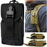 High Density Nylon Outdoor Hiking Camping Money Pocket Tactical Molle Cell Phone Travel Stuff Waist Pouch Bag...