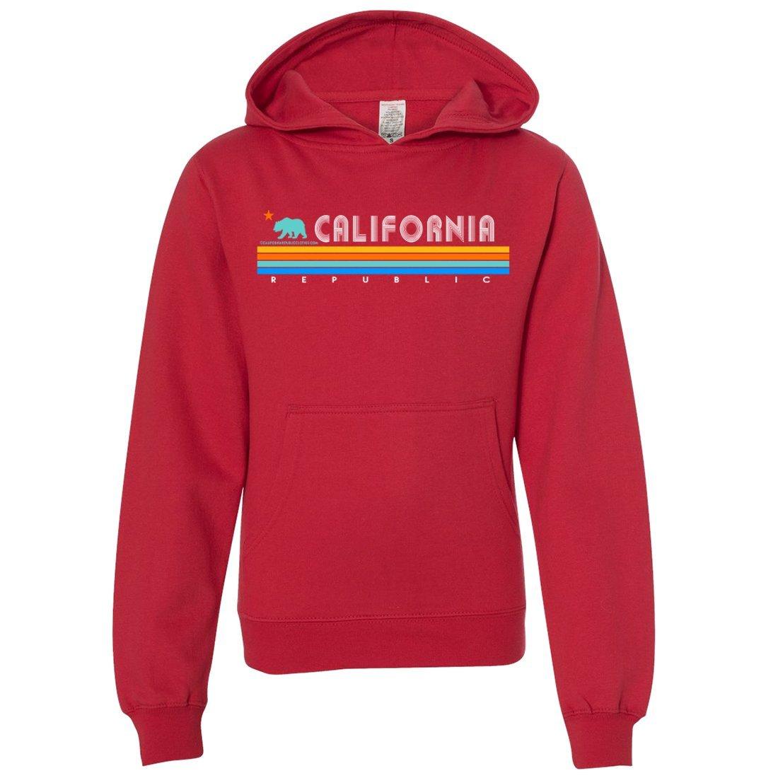 California Republic Vintage Stripe Youth Sweatshirt Hoodie