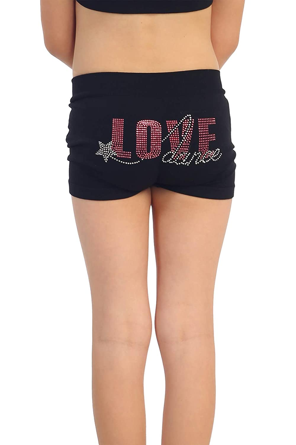 UV Protective Fabric UPF 50+ Kurve Kids Dance Shorts Made with Love in The USA