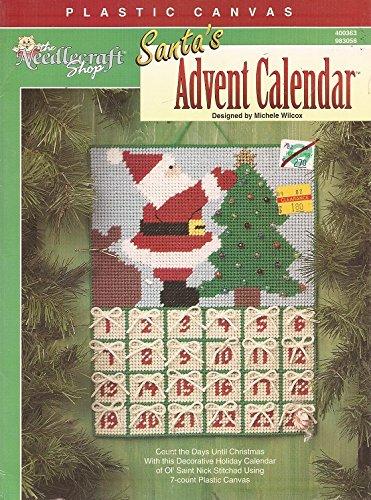 Plastic Canvas SANTA'S ADVENT CALENDAR by Michele Wilcox (Canvas Calendar Plastic)