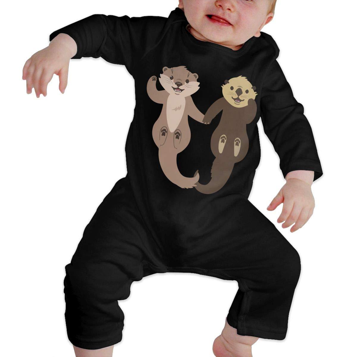 Art Otter Newborn Kids Long Sleeve Romper Jumpsuit Bodysuits