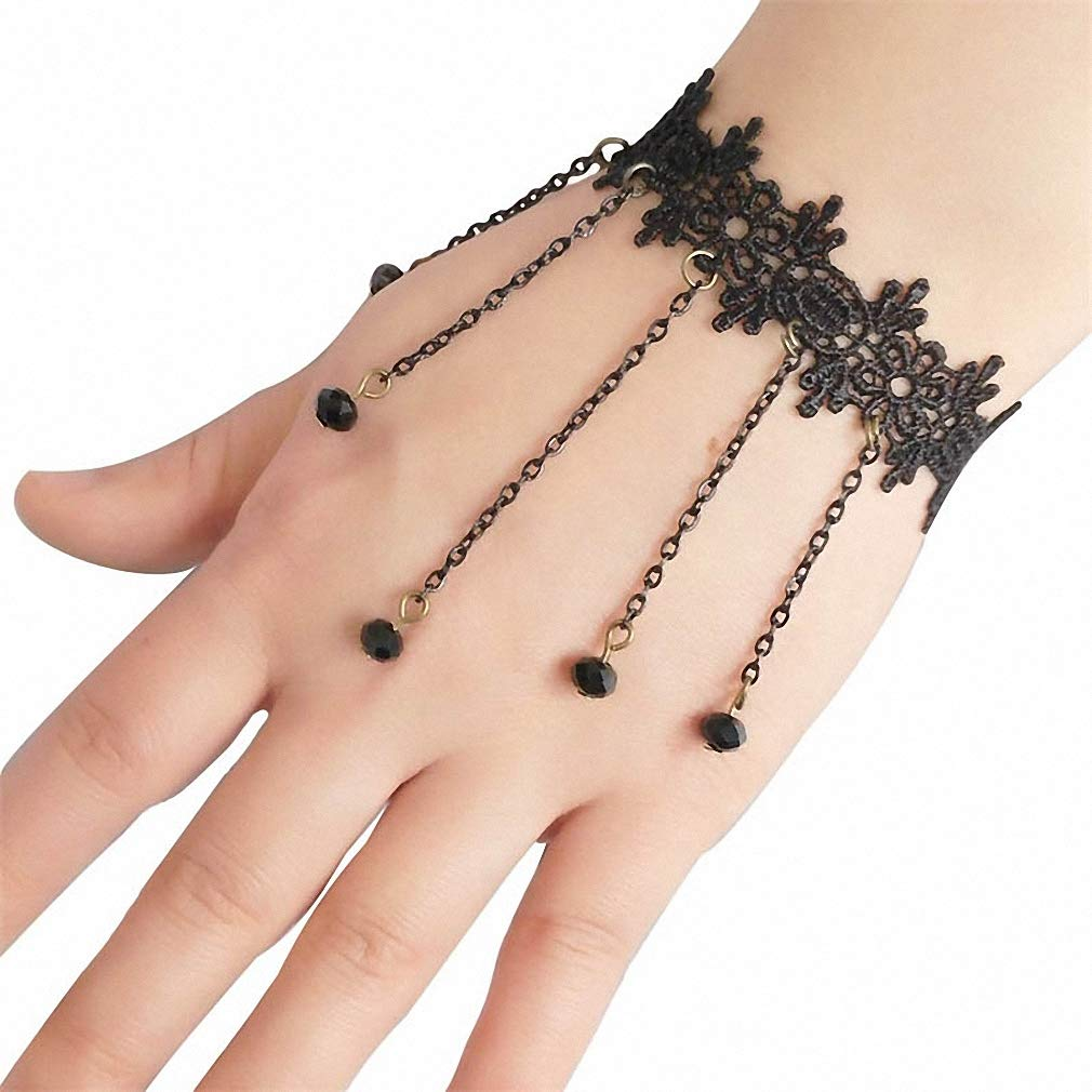 Womens Lace Bracelet Simple Lace Bracelet Gothic Jewelry for Women Accessories Charm Bracelets for Girl Night Club Party Jewelry LB-94