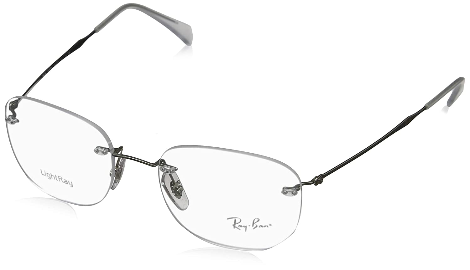Amazon.com: Ray-Ban RX 8748 1002 plata anteojos de 52 mm ...