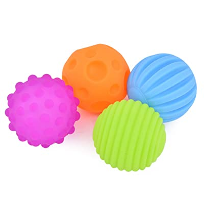 DS.DISTINCTIVE STYLE Ball Toys with Sound Effect 4 Pieces Soft Sensory Toys Educational Toys: Toys & Games