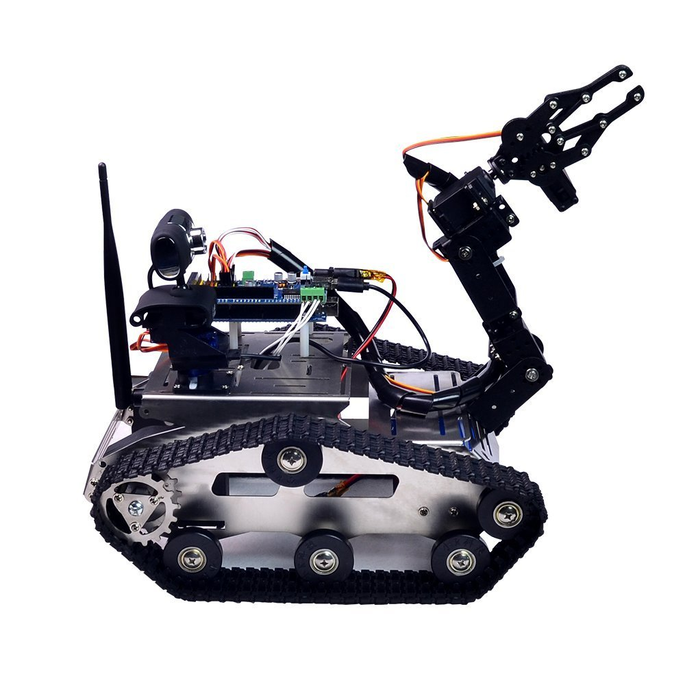 XiaoR Geek FPV Robot Car Kit with Robotic arm Hd Camera for Arduino,Utility Intelligent Tank chassis Robotics Vehicle,Smart Learning & Educational TH Robot Toys by iOS Android PC Controlled by XiaoR Geek (Image #3)